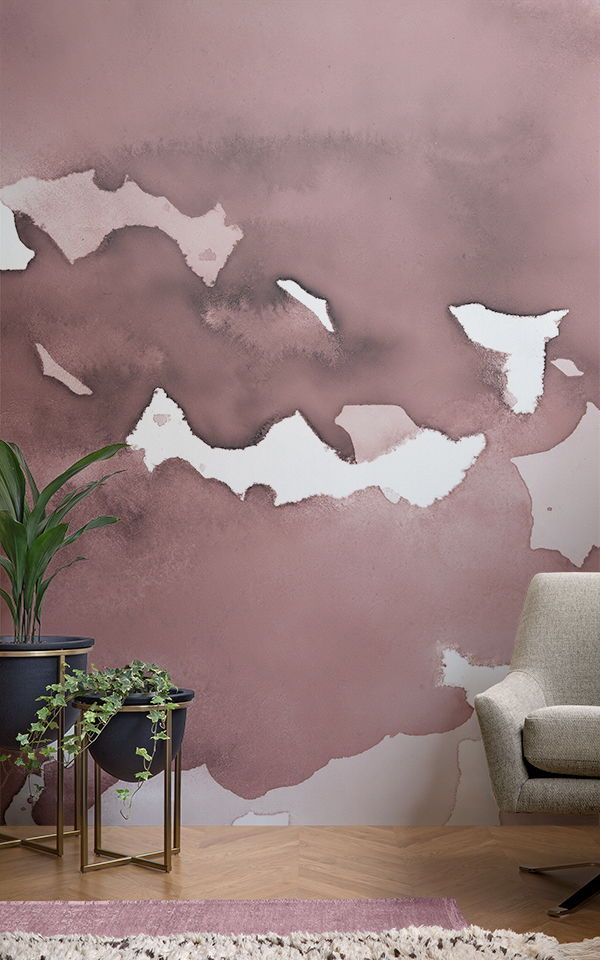 Use watercolour in your interior to create an impact with the Dusky Pink Abstrac...