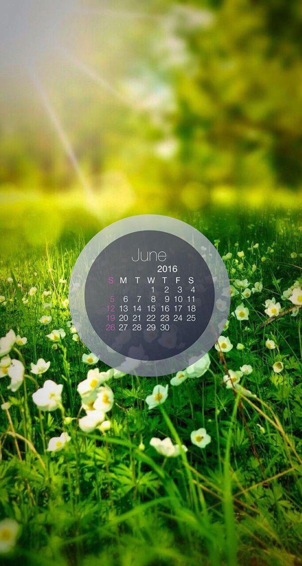 Nature wallpaper iPhone calendar