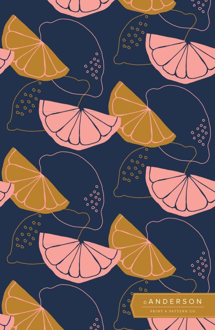 Citrus Slice Wallpaper   Anderson Print & Pattern   Rachel Anderson   Surface an...