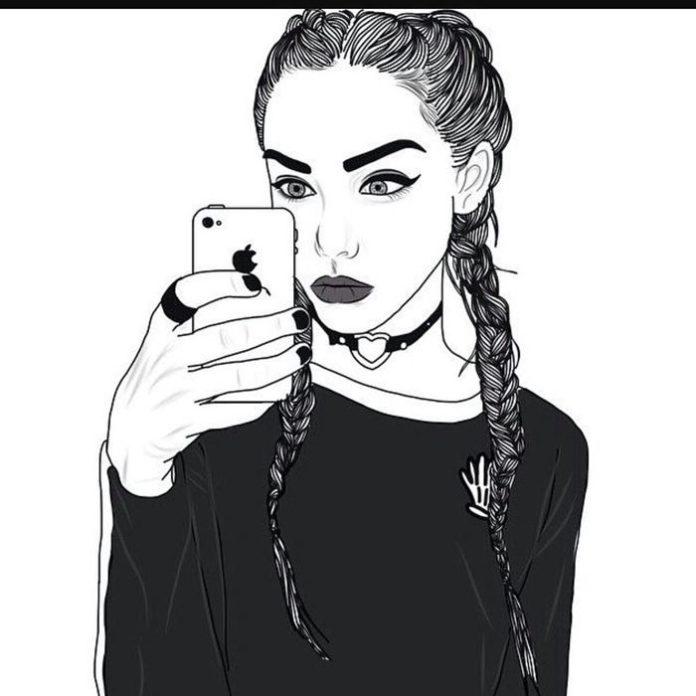 phone  u0026 celular wallpaper   fond d u0026 39  u00e9cran t u00e9l u00e9phone  dessin blanc et noir  u00e0 design fille ado swag