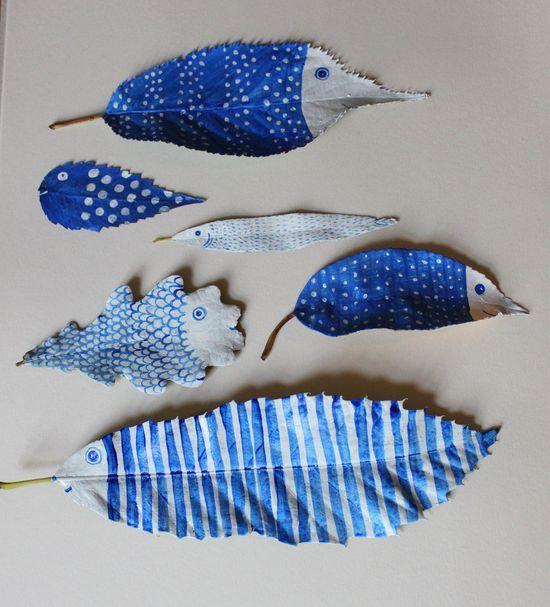 Painted leaves by Hazel Terry. #HandmadeCharlotte pinned with #Bazaart - www.baz...