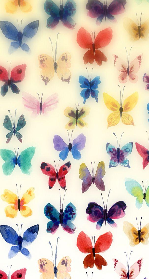 Wallpaper iPhone butterflies
