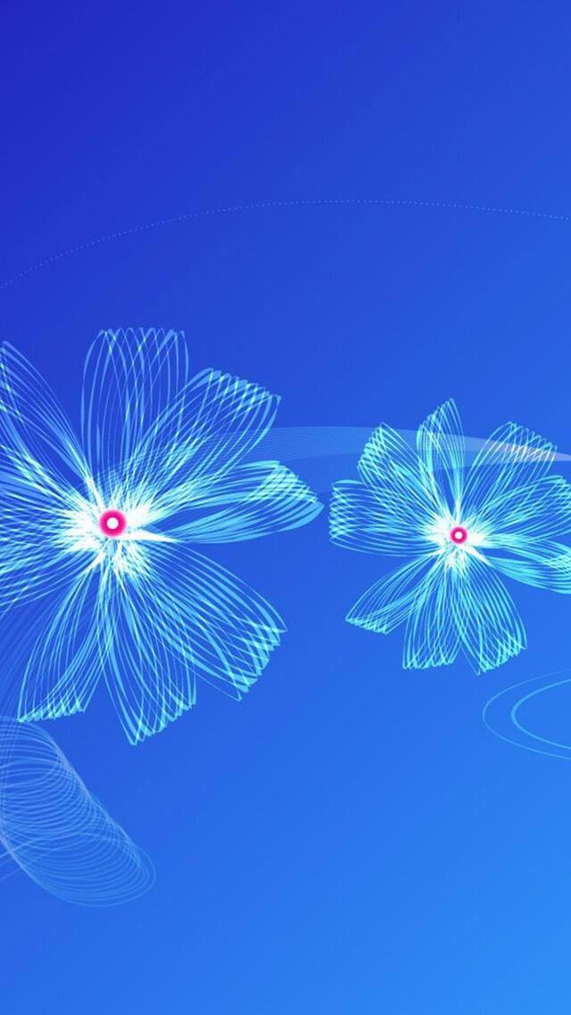 Wallpaper iPhone flowers blue