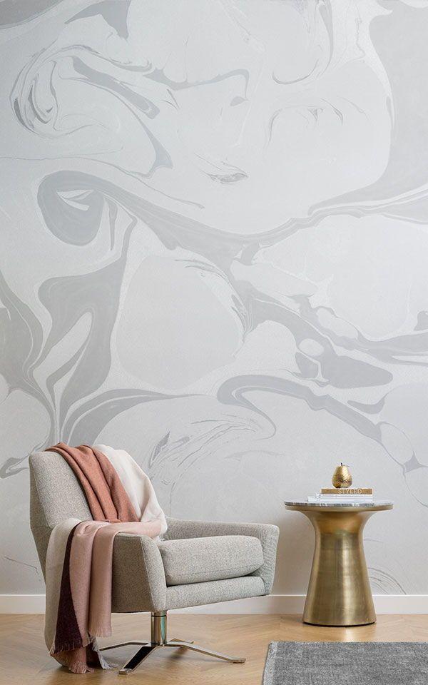 Añadir un mural pintado de color gris a su sala de estar y la creación de un e...