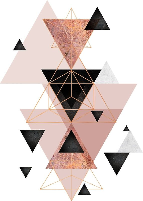 Geometric+Triangles+in+blush+and+rose+gold
