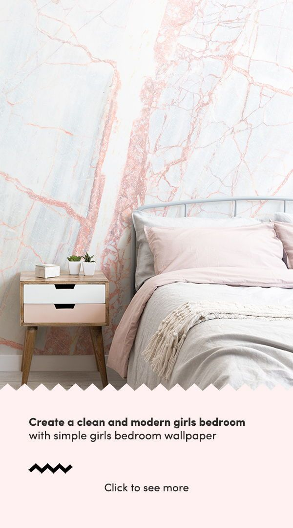 Bedroom Wallpaper Ideas : Create a clean and modern girls ...