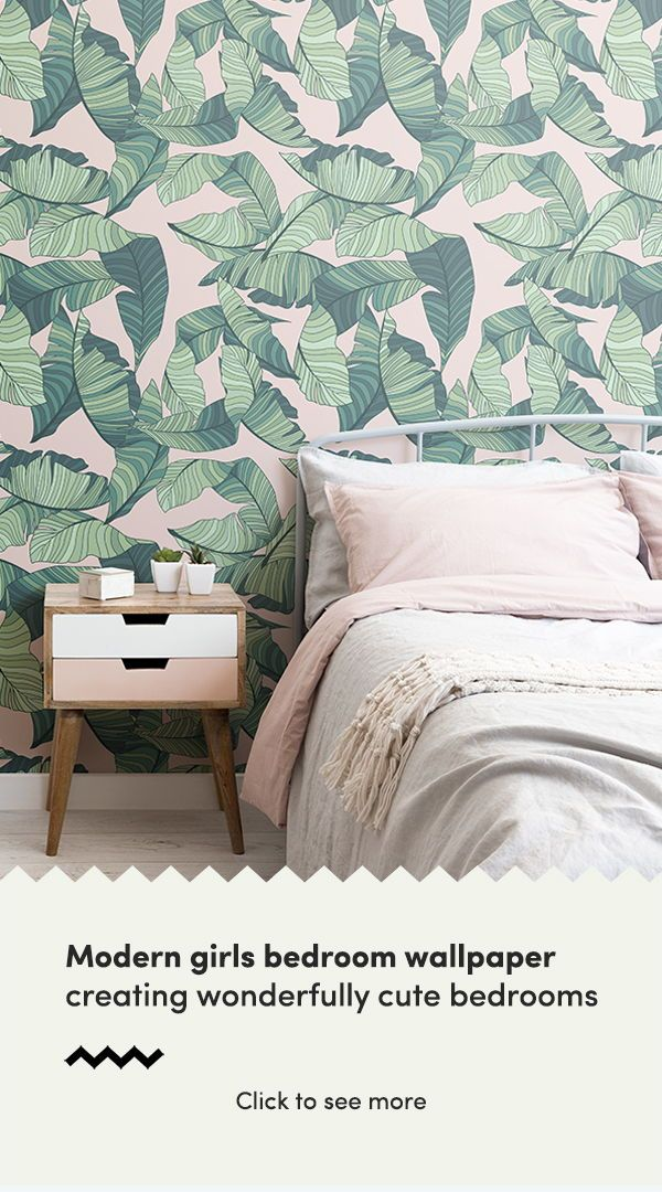 Create a wonderfully cute bedroom with modern bedroom wallpaper designs and form...