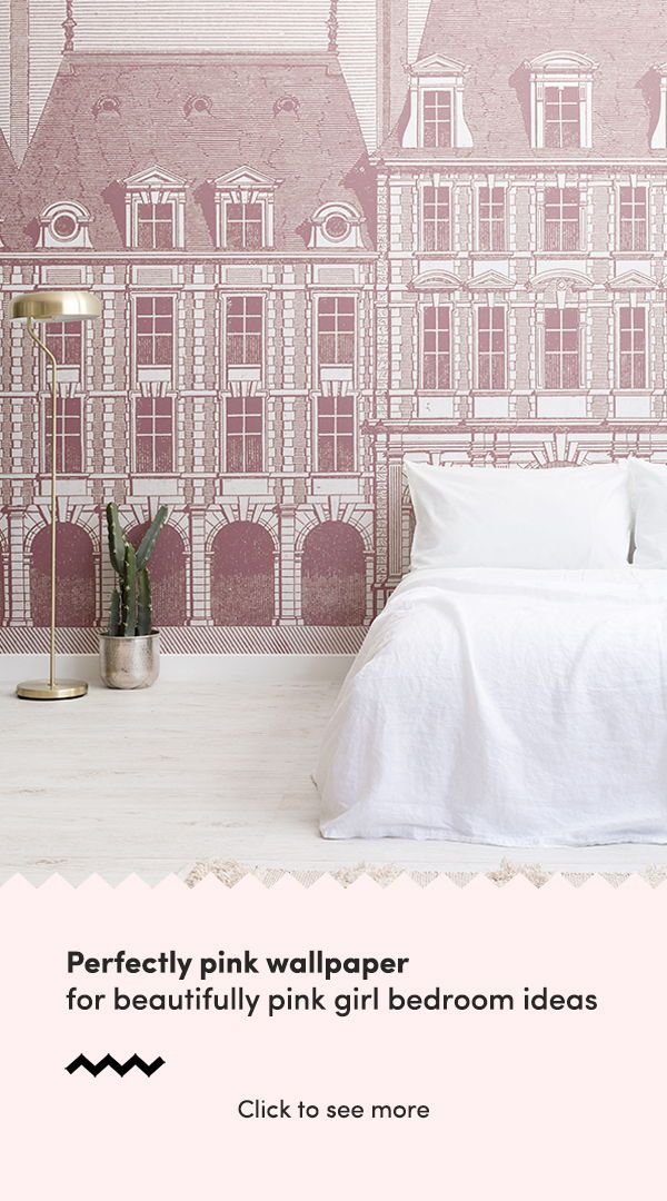 Bedroom Wallpaper Ideas : Choose a perfectly pink wallpaper mural ...