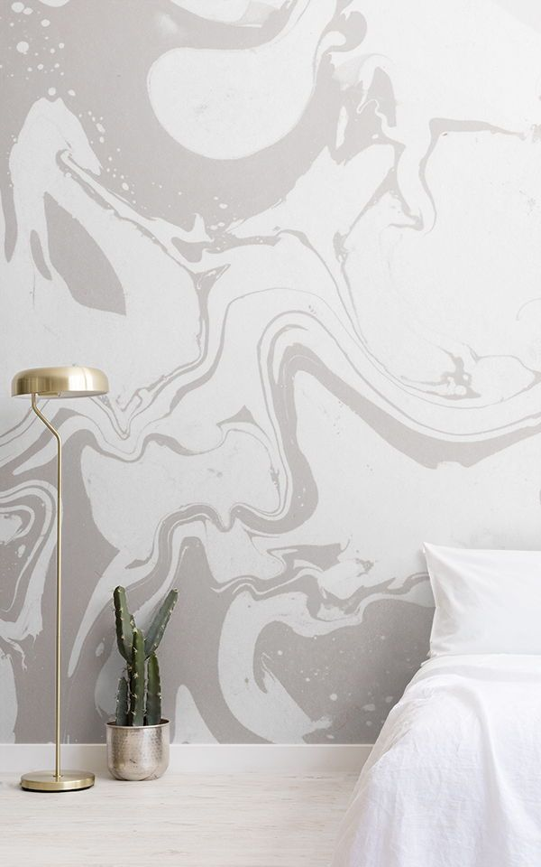 Create a white modern bedroom with these beautifully simple white wallpaper desi...