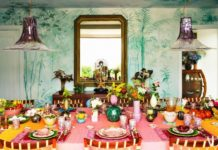 Step Inside the Colorful Home of Margherita Missoni. tropical wallpaper