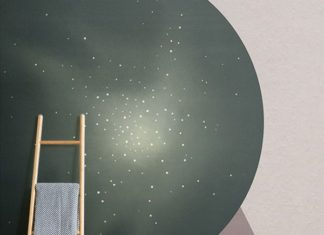 Complete a retro style in your living room with these retro space wallpaper desi...