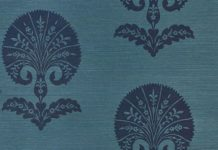 OTTOMAN FLOWER SISAL | 5008212 in Peacock | Schumacher Wallpaper | Turkish flora...