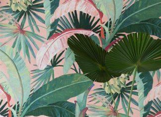 Interior Design Wallpaper Ideas : photo of La Palma Wallpaper Aqua in situ