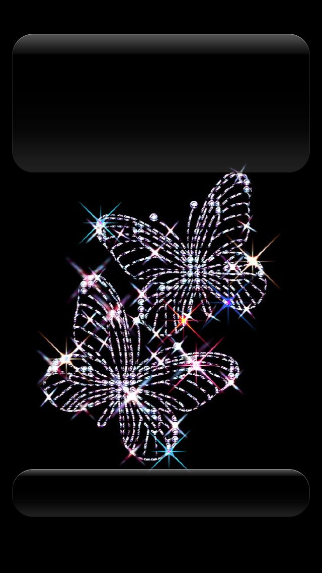 ↑↑TAP AND GET THE FREE APP! Lockscreens Butterfly Magic Black HD iPhone 5 Lo...