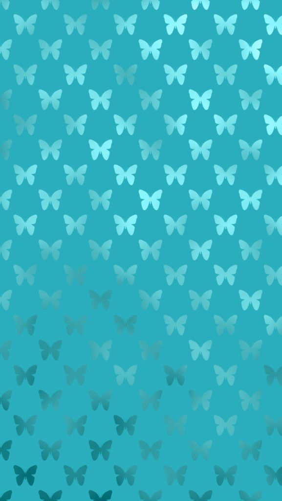 Free Teal Butterfly iPhone Wallpaper for iPhone 5 and iPhone 6