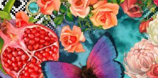 Melli Mello Emanuel strandlaken - Bloemen strandlaken katoen! - Smulderstextiel....