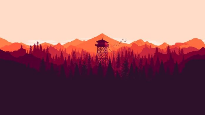 I made some dual and single monitor Firewatch wallpapers for different times of ...