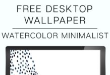 Free Minimalist Watercolor Wallpaper for your Desktop, Phone and Tablet! Downloa...