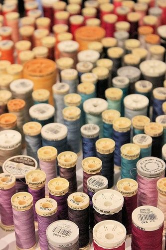How do you store your thread spools?  Tips from Carrie at Moda's The Cutting...