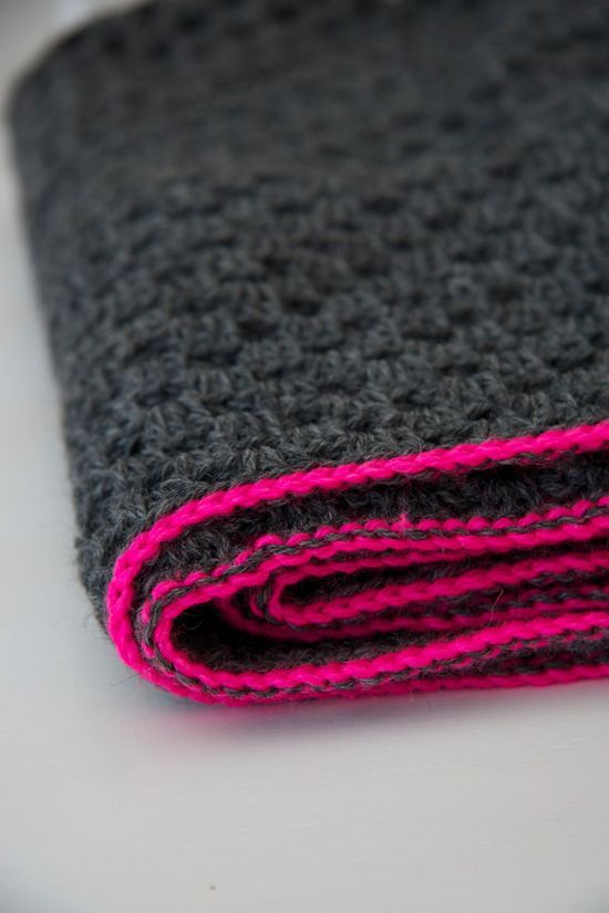 This is the exact colour combination i want to do a blanket in but with dots in ...