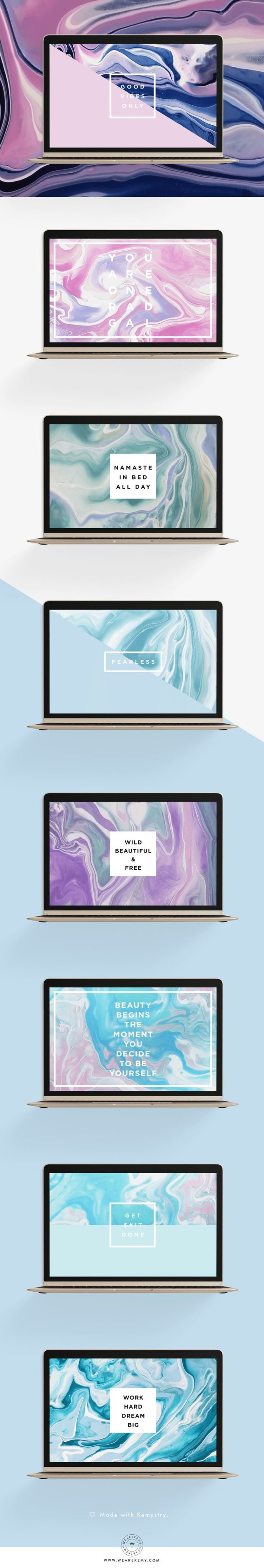 You loved our marble mobile freebies and asked for desktop ones, well we heard y...