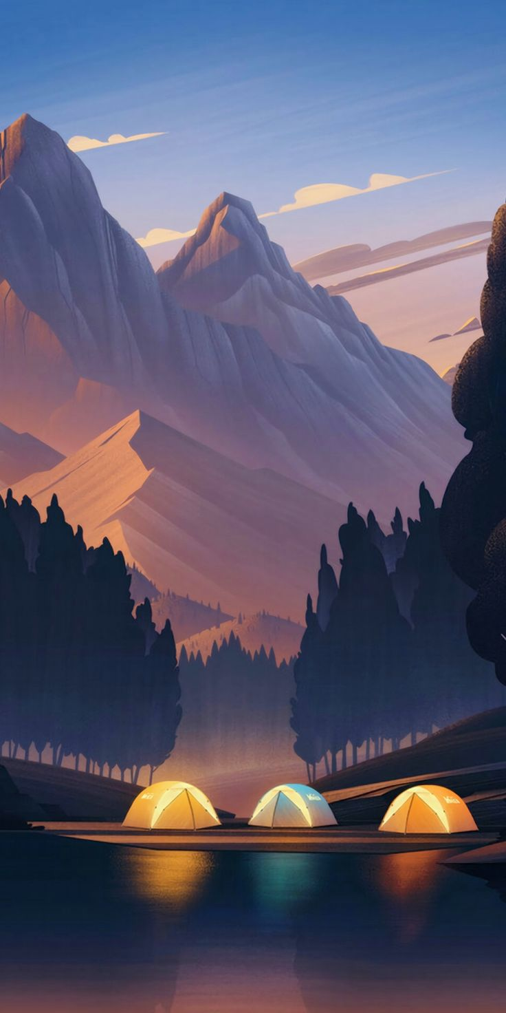 Firewatch Wallpaper : Camping #wallpaper #iphone #android #background