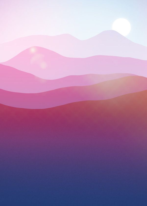 Displate Poster Magic Mountains N.5 landscape #mountain #sunset #sunrise #sun #r...