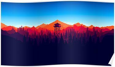 Firewatch - Landscape 4 Poster