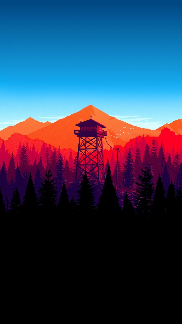 Firewatch Wallpaper 4k Iphone X Wallpaper Oled Backgrounds Www