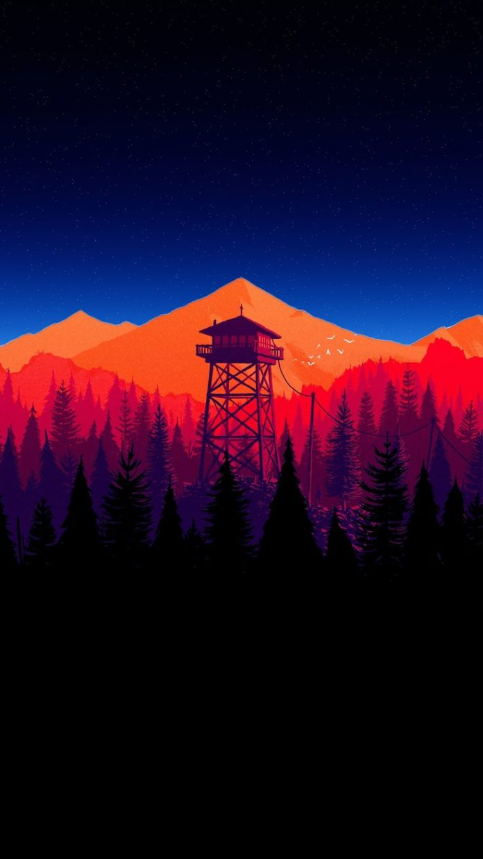 Firewatch with a subtle starry effect! [1080x1920] (i.redd.it) submitted by deat...