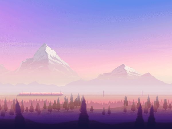 Firewatch Wallpaper Low Poly Et Illustrations By Jona Dinges