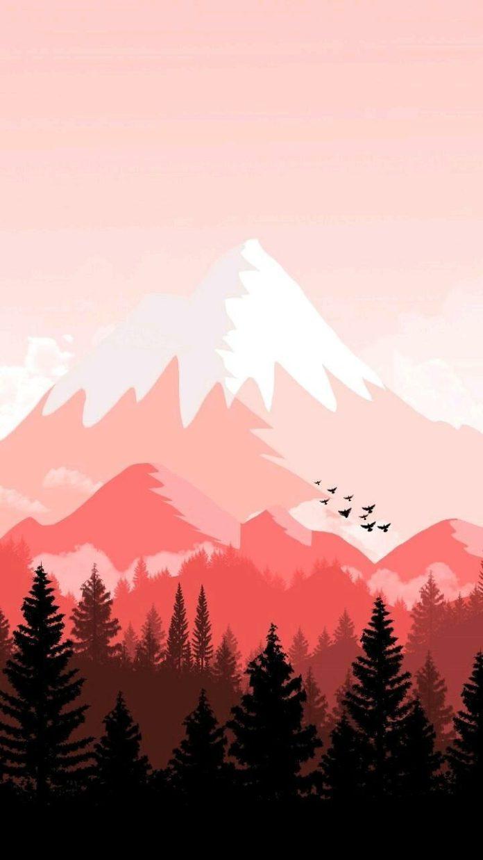 Pájaros en las montañas fondo