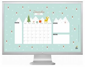 Art And Chic: Hello December - Free printable and wallpaper calendar!