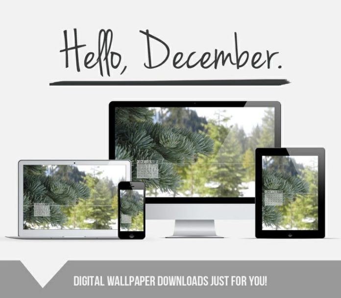 {Blog} Hello, December: Wallpaper + Wishes --> Click through for free wallpaper ...