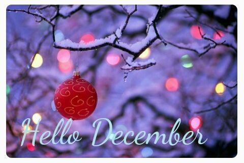 December ..my birthday ..Xmas..new yrs Eve..family friends. Xmas lights. Hot Cho...