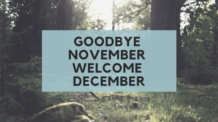 Goodbye November Hello December Images, Quotes and Wallpaper.