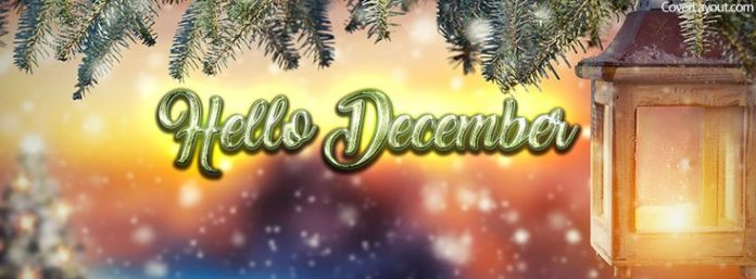 Hello December Light Facebook Cover coverlayout.com