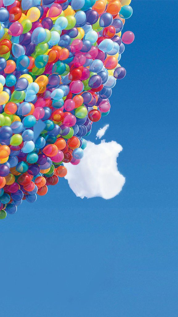 Balloons And Apple Logo Iphone Wallpaper Background