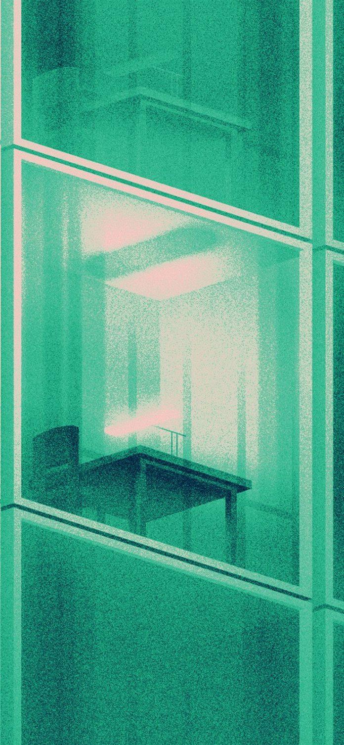 ba40-building-green-dot-illustration-art via iPhoneXpapers.com - Wallpapers for ...