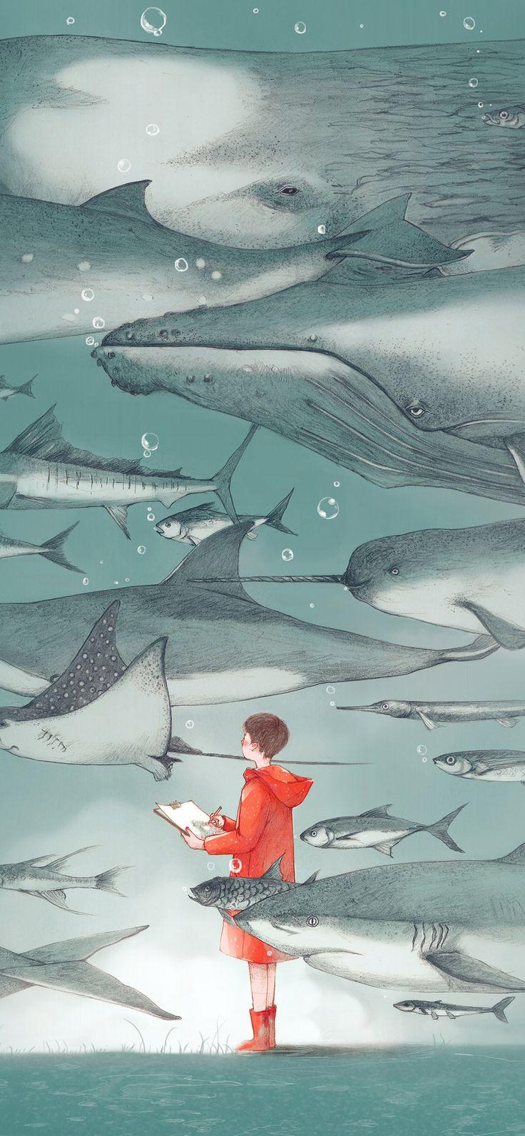 Iphone X Wallpaper Ba54 Water Fish Pastel Animal Illustration Art