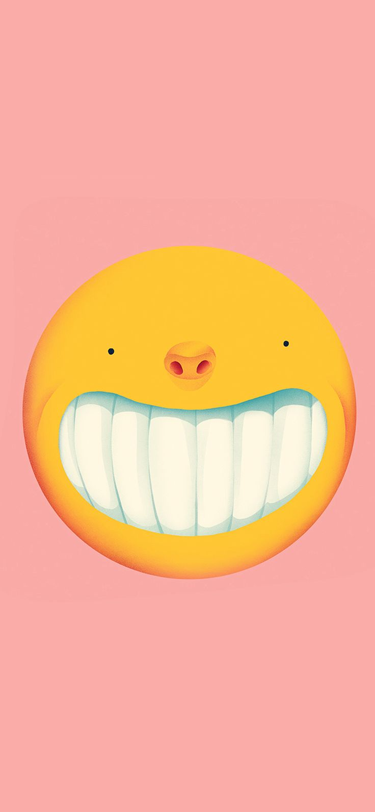 Iphone X Wallpaper Ba95 Smile Love Pink Cute Illustration Art