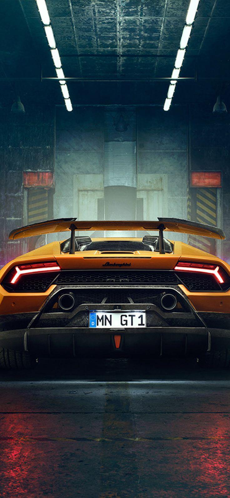 Iphone X Wallpaper Bg24 Car Lamborghini Yellow Art Via