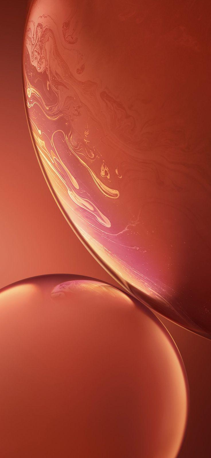 Iphone X Wallpaper Bg34 Apple Iphone Xs Red Official Art Orange