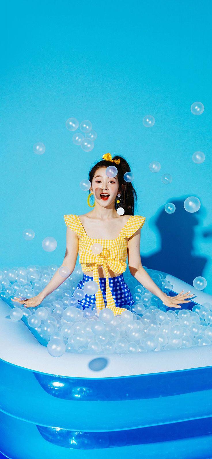 Iphone X Wallpaper Hr03 Blue Girl Redvelvet Kpop Summer Water Via