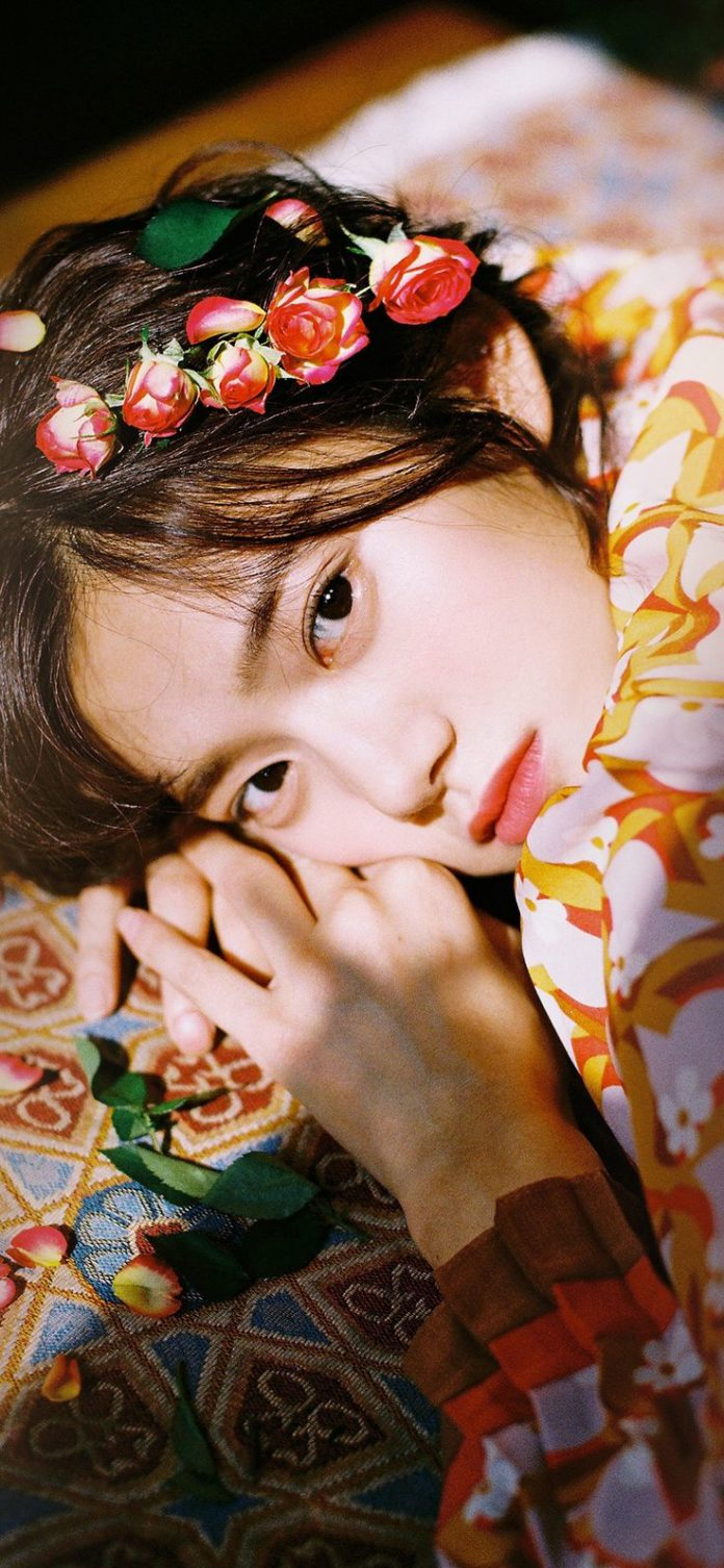 hr04-girl-flower-lying-summer-kpop via iPhoneXpapers.com - Wallpapers for iPhone...