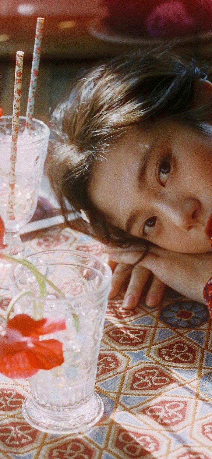 hr21-flower-red-girl-asian-kpop-dress-summer via iPhoneXpapers.com - Wallpapers ...