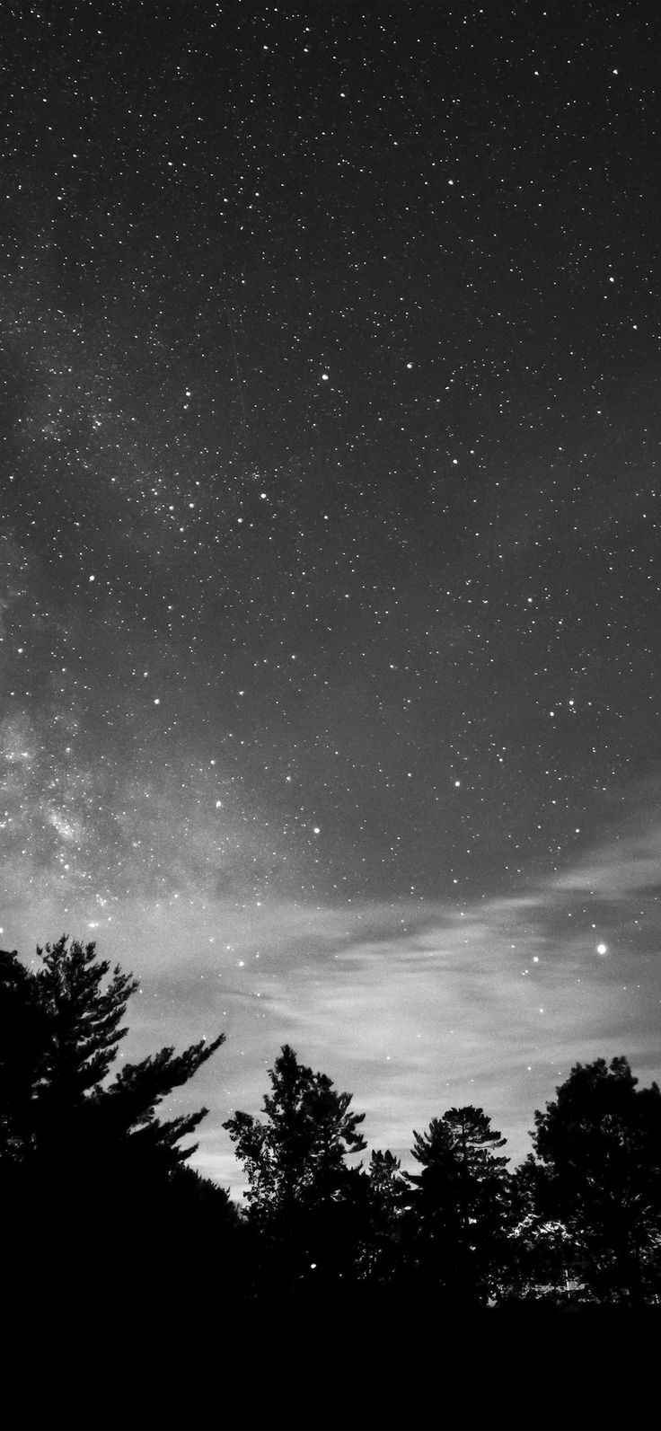 Iphone X Wallpaper Mv72 Sky Night Star Dark Mountain Cloud Shadow
