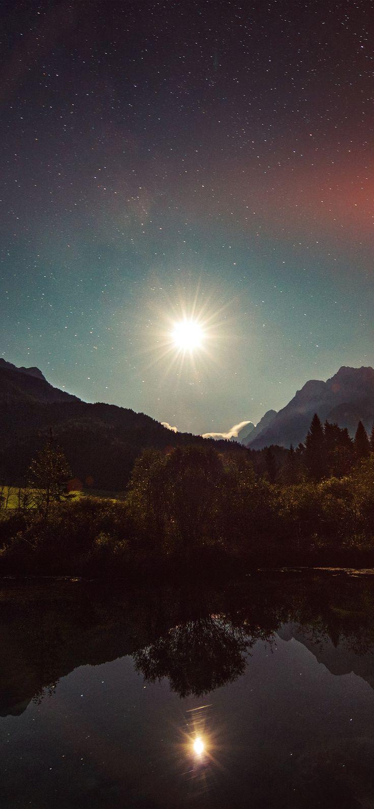 Iphone X Wallpaper Nc01 Sunshine Day Dream Nature Mountain Lake