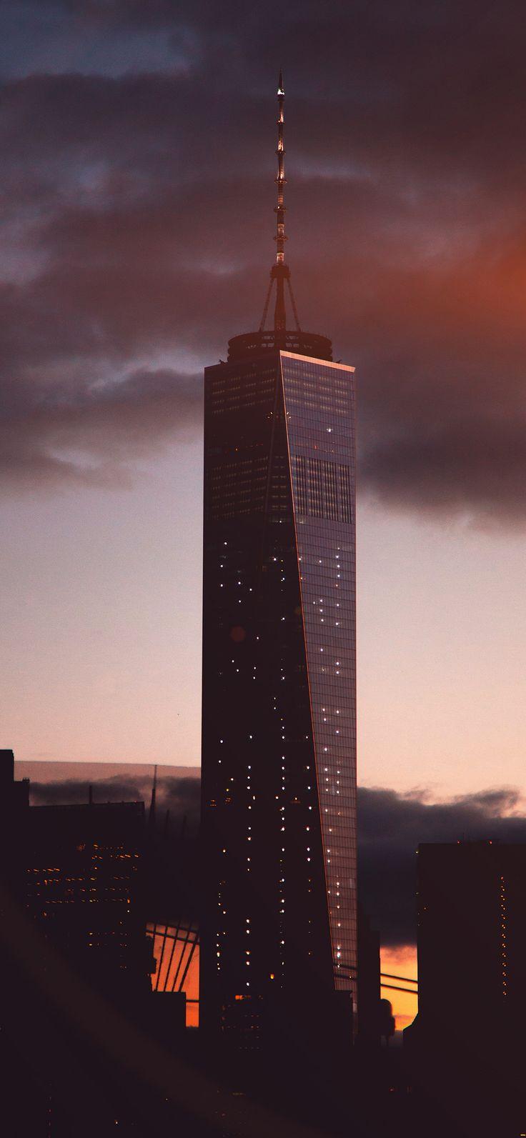 Iphone X Wallpaper Nc36 City Tower Skyline Night Flare Via