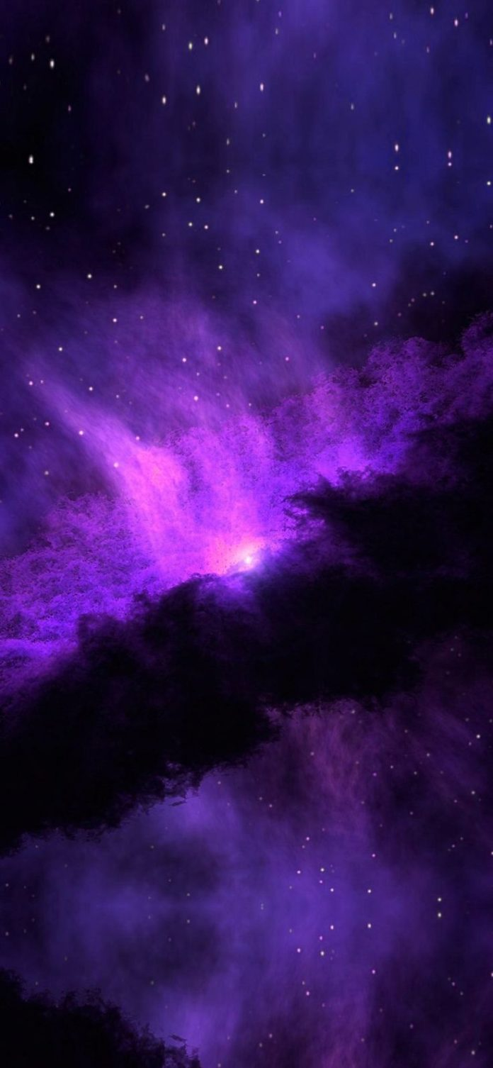 nc48-space-blue-purple-nebula-star-awesome via iPhoneXpapers.com - Wallpapers fo...